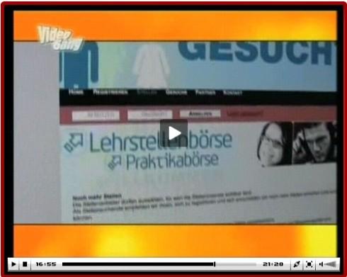 VideoGang-Beitrag über die Lehrstellenboerse