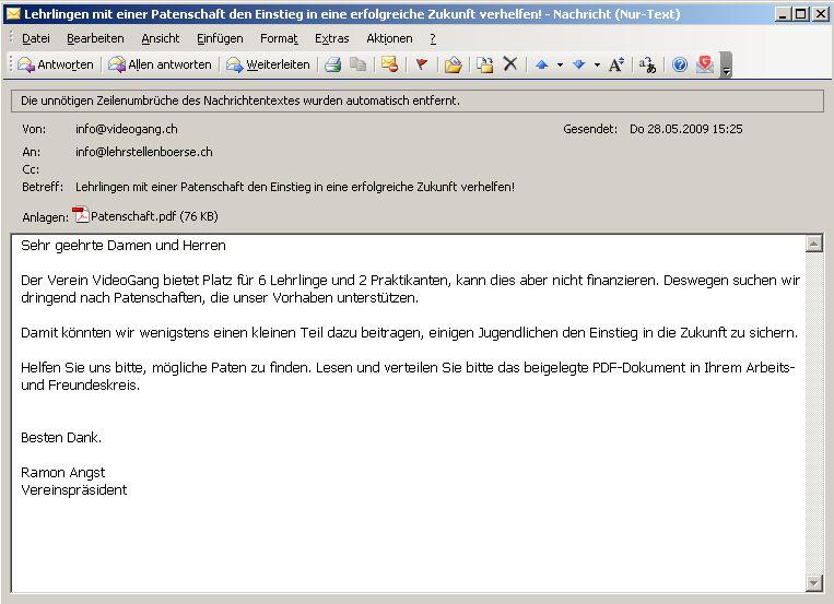 videogang - Bewerbung Per Email Was Schreibt Man In Die Mail